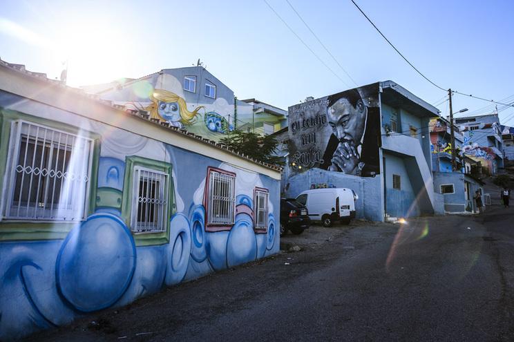 Bairro da Cova da Moura, na Amadora, nos arredores de Lisboa