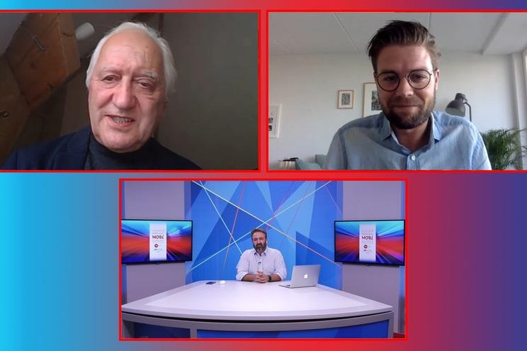 David Langerak (em cima à direita) foi o convidado da entrevista PMS, conduzida por Charles Landry e