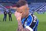 Cebolinha mostrou-se muito emocionado no final do jogo com o Internacional