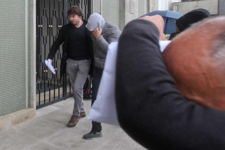 Chegada ao Tribunal do Marco de Canaveses dos cinco guardas prisionais detidos por tráfico de estupefacientes