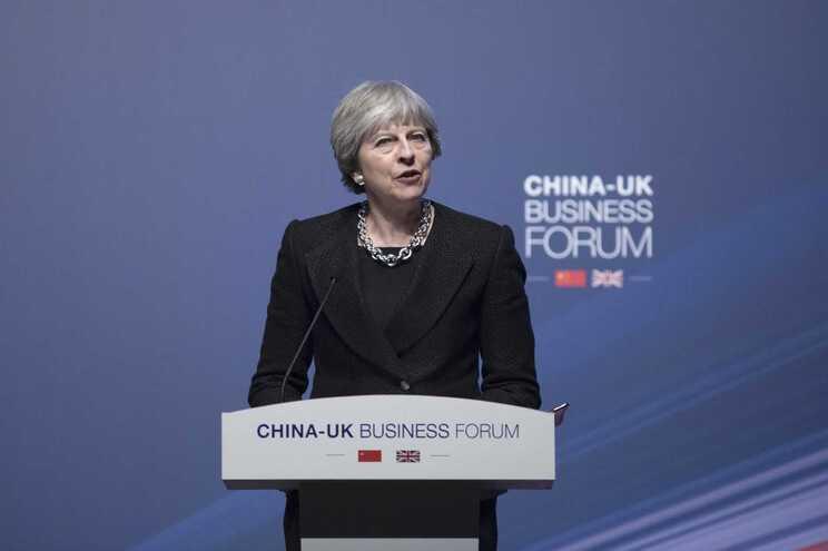 Theresa May na China