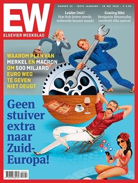 """Capa da edição de sábado da revista """"Elsevier Weekblad"""""""