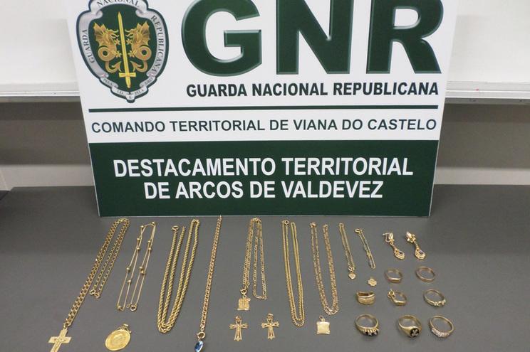 Objetos furtados que a GNR conseguiu recuperar