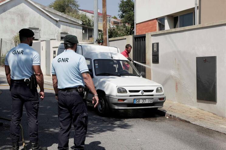 Local onde ocorreram os disparos em Gondomar  (Amin Chaar / Global Imagens)