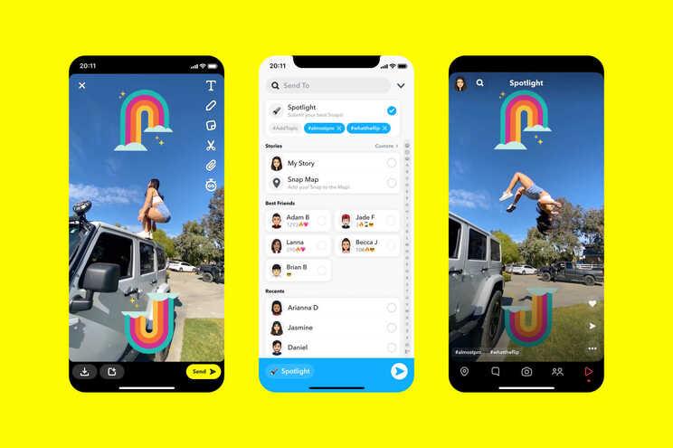 """""""Spotlight"""" é a nova funcionalidade do Snapchat que poderá chegar em breve a Portugal"""
