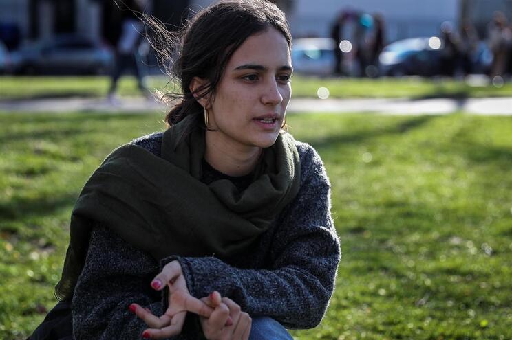 Matilde Alvim, 17 anos, a principal promotora da Greve Estudantil Climática
