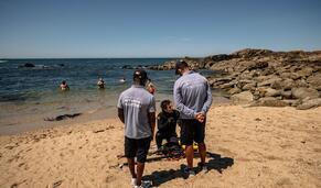 Polícia Marítima vigia praias para garantir sucesso da época balnear contra a covid-19
