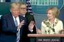 """Trump """"assusta-se"""" quando coordenadora do combate ao vírus diz que teve febre"""