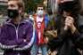Protesto contra confinamento em alguns bairros de Madrid