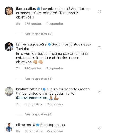 Otávio pede desculpa e Casillas responde