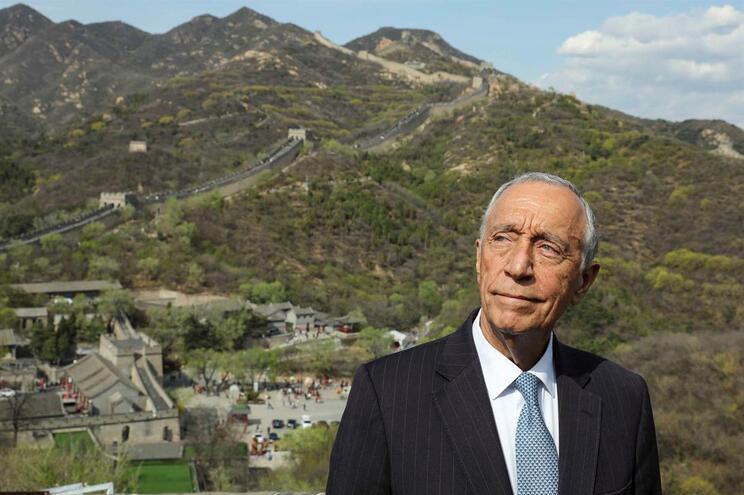 O presidente da República, Marcelo Rebelo de Sousa, visita a Muralha da China, em Pequim