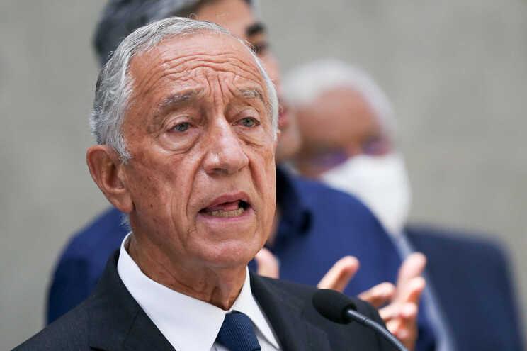 Marcelo Rebelo de Sousa após a 10.ª e última reunião no Infarmed