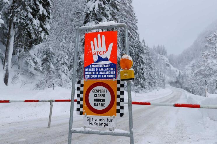 Três mortos e um desaparecido em avalancha de neve