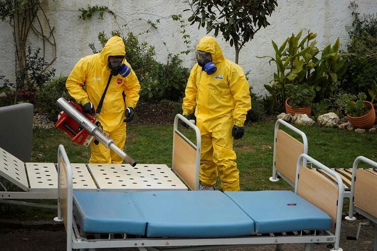 Militares da GNR descontaminaram instalações e objetos da Geriabranca, em Albergaria-a-Velha