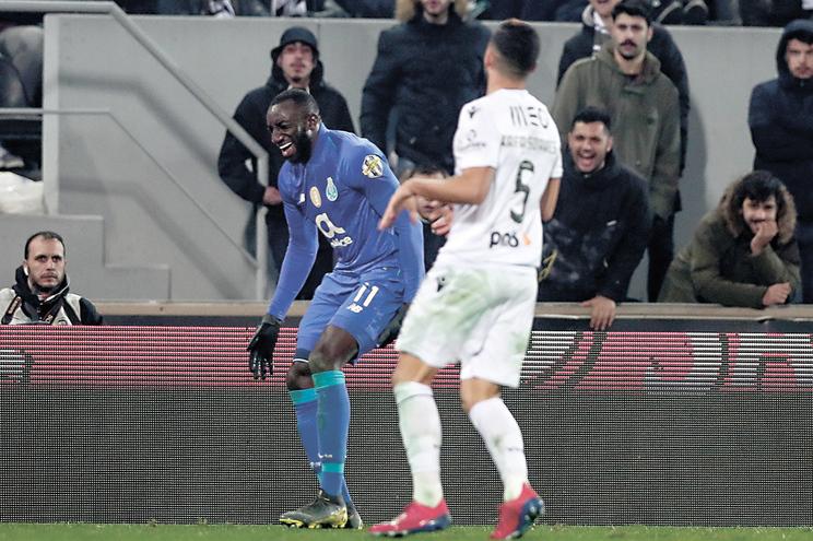 Marega lesionou-se em Guimarães, contra o Vitória, no passado dia 3