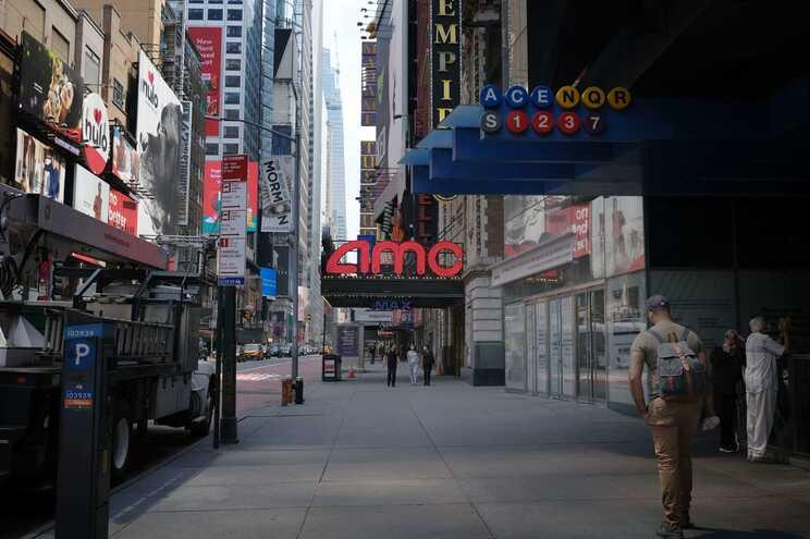 Ruas desertas em Nova Iorque