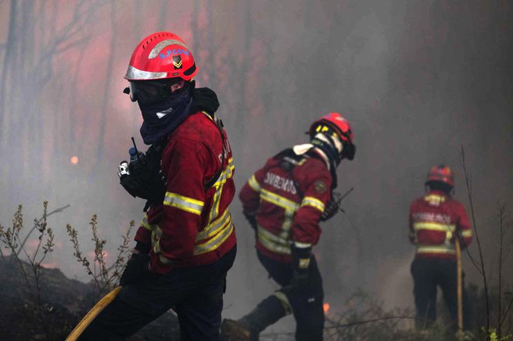 Vento e temperatura quente dificultam trabalho dos bombeiros