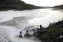 Remoção de poluição no rio Tejo, em Abrantes