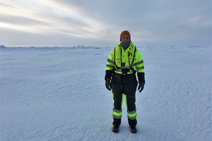 Ana Hilário no Ártico
