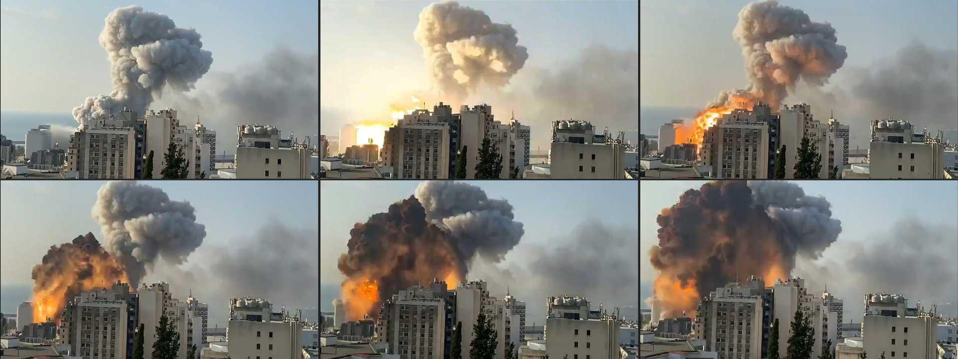2.750 toneladas de nitrato de amónio na origem das explosões em Beirute