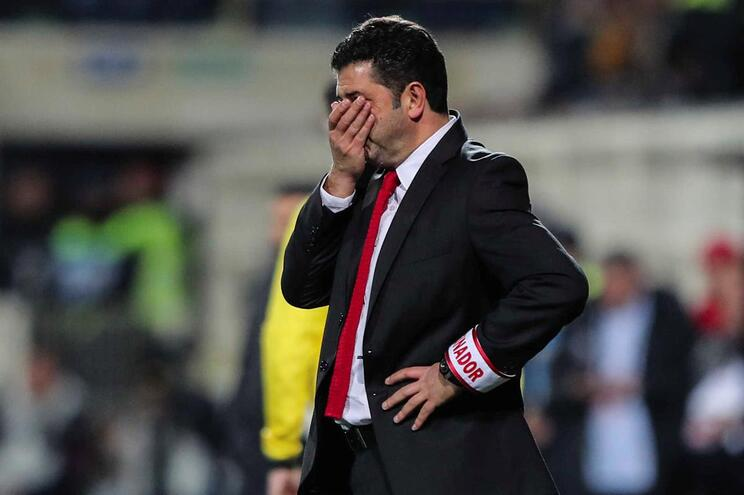 Rui Vitoria headcoach of Benfica during their Portuguese First League soccer match with Portimonense
