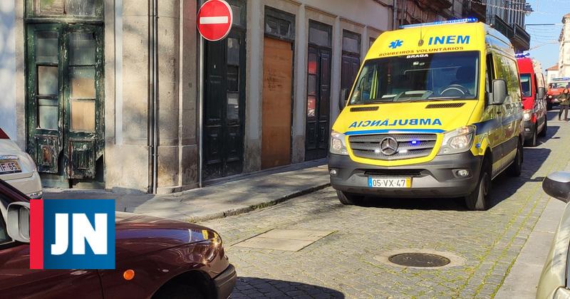 Idosas atropeladas na Praça do Município de Braga