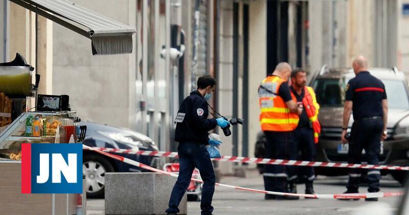 """Explosão em Lyon. Imagens do local do """"ataque"""""""