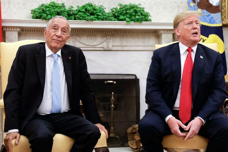 Marcelo Rebelo de Sousa e Donald Trump encontraram-se em junho do ano passado