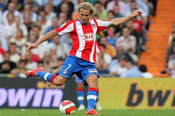 Diego Forlán quando representava o Atlético de Madrid