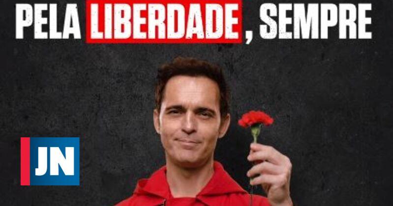 """Ator da """"Casa de Papel"""" canta """"Grândola Vila Morena"""""""