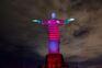 Cristo Rendentor veste-se de vermelho e preto para apoiar Flamengo de Jesus