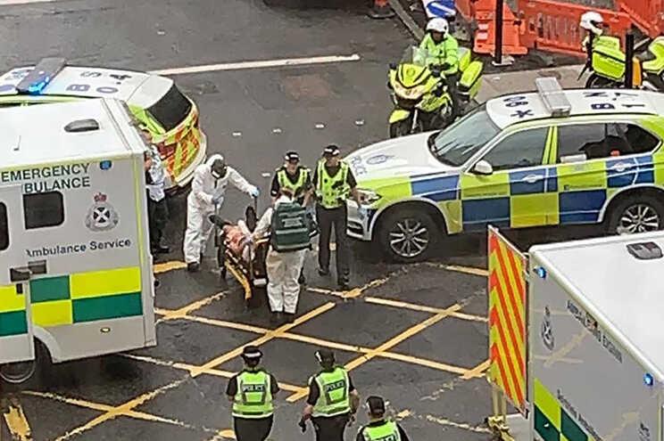 Seis vítimas foram levadas para o hospital
