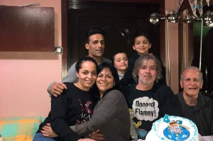 Berenice Molina e a família