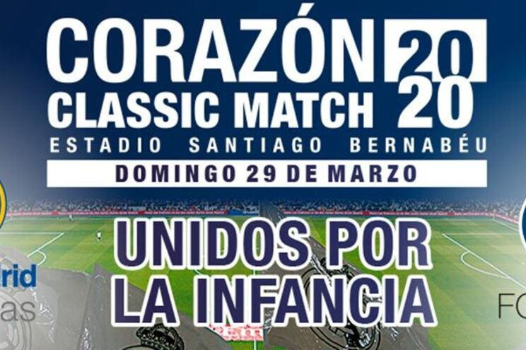 O jogo vai opor as lendas do Real Madrid e do F.C. Porto