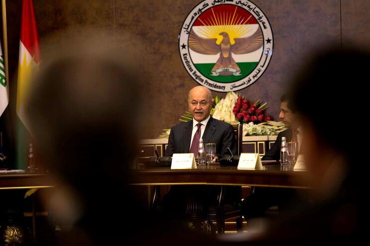 O presidente do Iraque, Barham Salih
