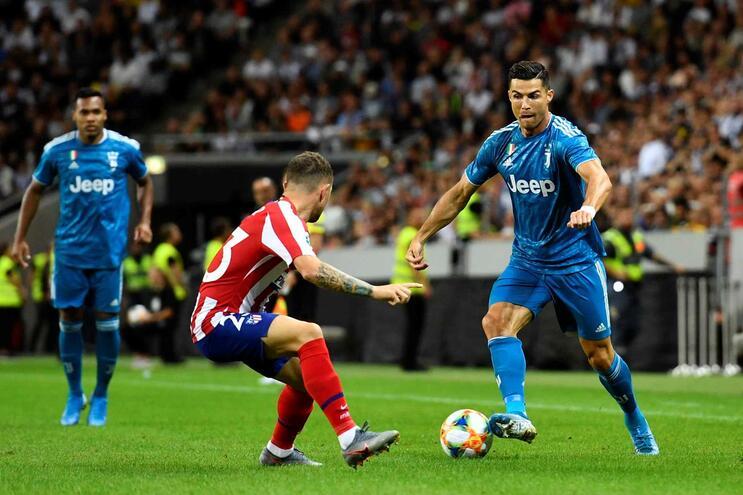 Siga em direto o Atlético de Madrid - Juventus