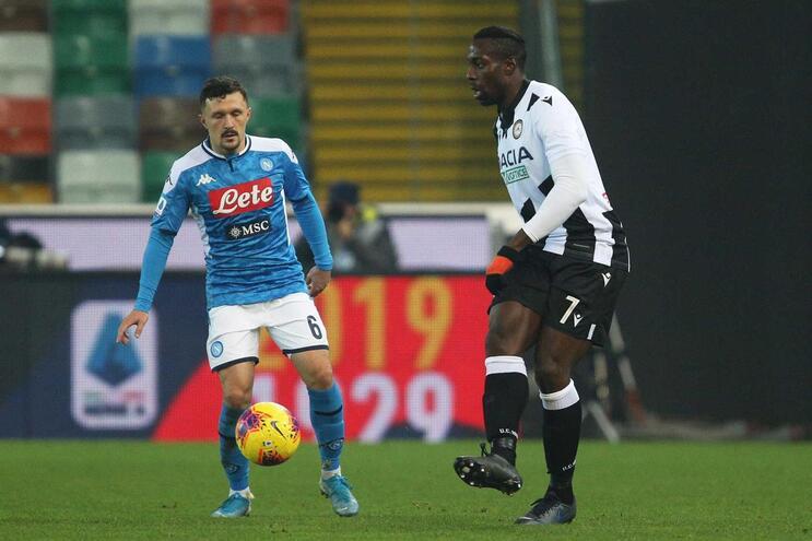 Nápoles e Udinese empataram a uma bola