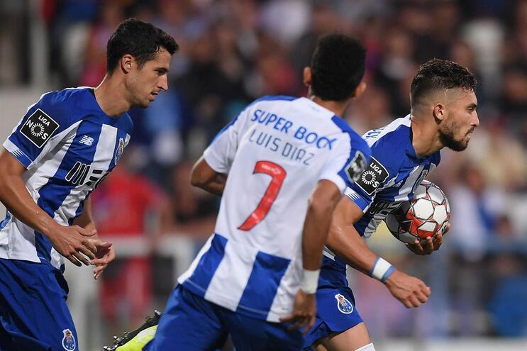 O onze do F. C. Porto para o jogo com o V. Setúbal