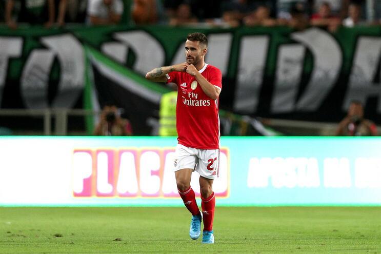 Rafa Silva voltou a treinar sem limitações