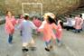 jnpt220905ft     Nova escola do centro historico de Gaia, EB1 da Praia, alunos a brincar no recreio. Foto