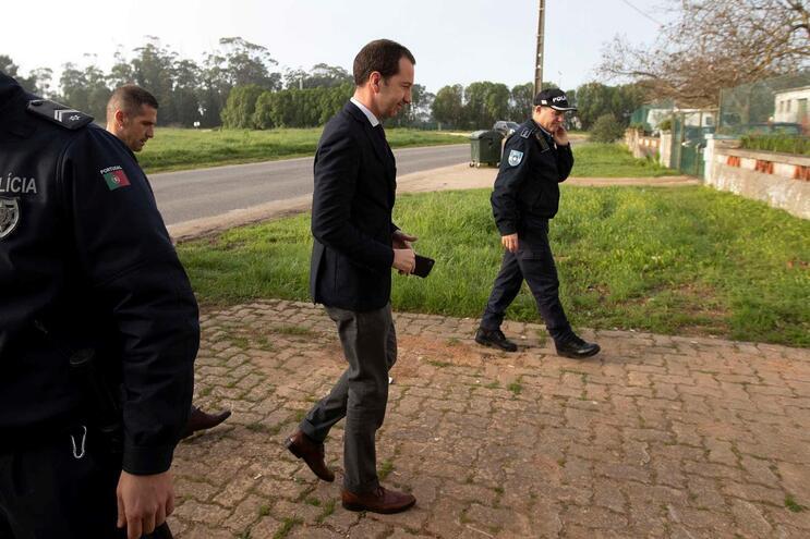 Frederico Varandas a chegar ao Tribunal de Monsanto