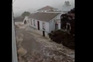 Imagens do mau tempo na ilha Terceira, nos Açores