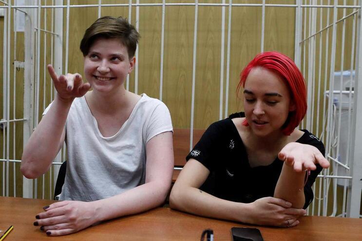 Olga Pakhtusova e Olga Kurachyova, dois dos quatro membros condenados