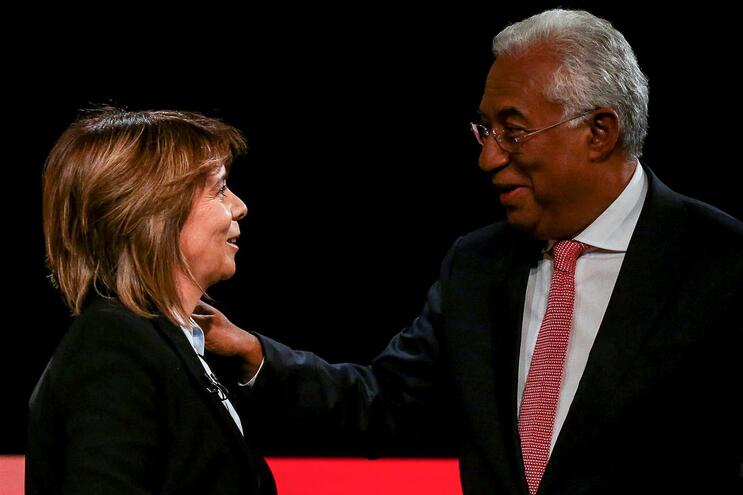 Catarina Martins e António Costa