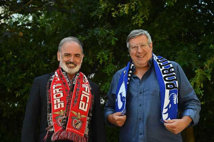 Souza Cardoso (SLB) e Manuel Serrão (FCP) são sócios e compadres, mas adversários no futebol