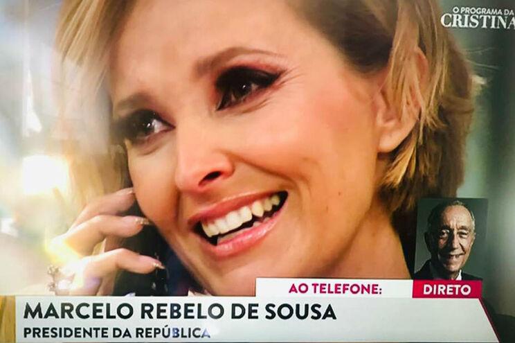 Marcelo liga a Cristina Ferreira na estreia do novo programa