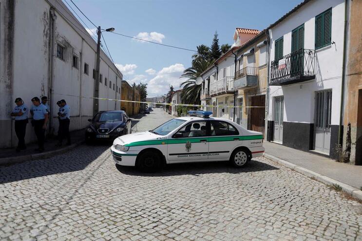 Local onde ocorreu o crime em Vila Nova de Foz Côa  Miguel Pereira da Silva / Global Imagens