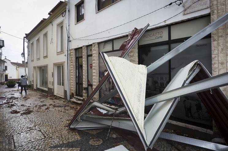 O distrito mais afetado pelo Leslie, a 13 de outubro de 2018, foi o de Coimbra