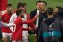 O momento da expulsão de Rafa após o final do jogo em Alvalade