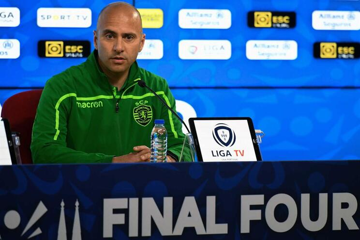 Treinador adjunto do Sporting, Rodolfo Correia